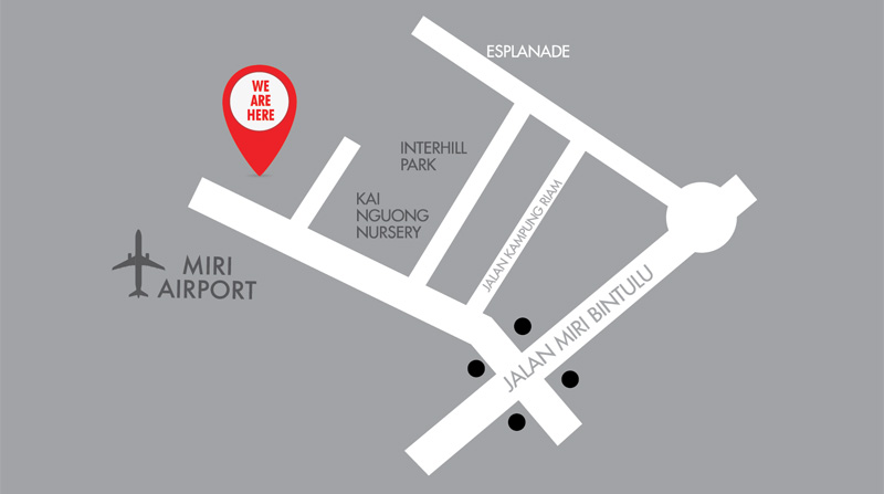 Airport Avenue Location Map